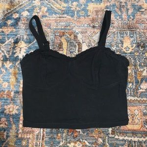 Abercrombie and Fitch black crop top